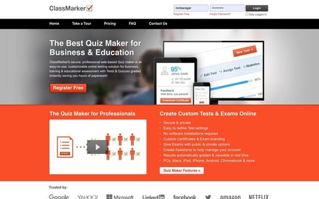 Free Quiz Maker - easily embed audio for questions