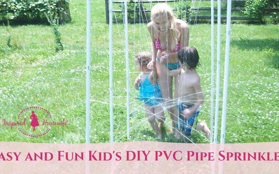 Easy and Fun Kid's DIY PVC Pipe Sprinkler