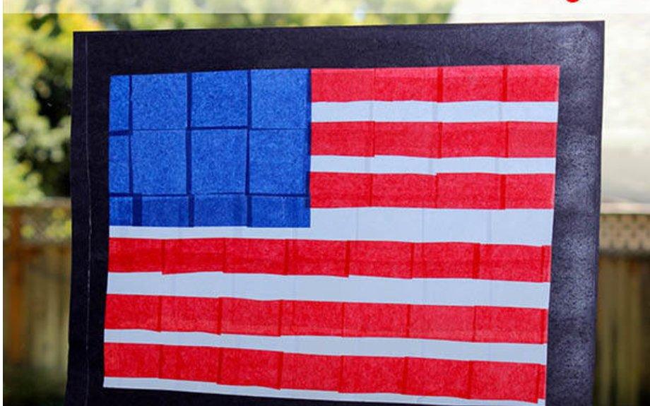 American flag suncatcher for 4th of July