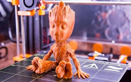 Baby Groot -  3D Printing Time Lapse