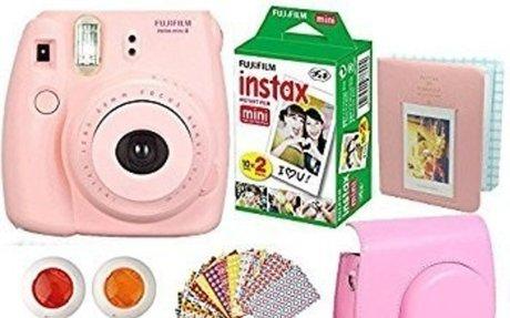 Amazon.com : FujiFilm Instax Mini 8 Instant Film Camera Pink + Instax Mini Film Twin Pack