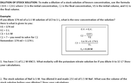 Dilution Problems (part of the AP Biology Dilution Packet).docx