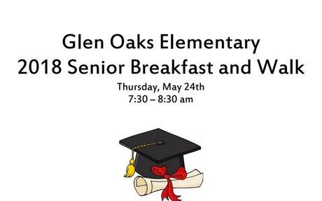 Glen Oaks 2018 Senior Breakfast Invite
