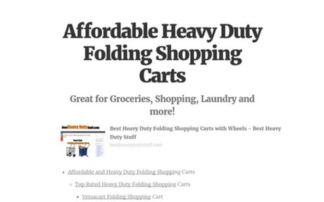 Affordable Heavy Duty Folding Shopping Carts
