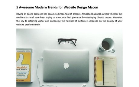 5 Awesome Modern Trends for Website Design Macon