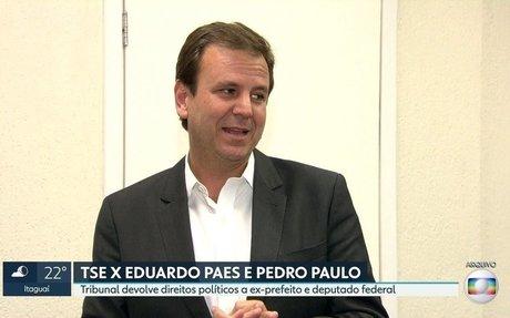 RJ2 | TSE devolve direitos políticos a Eduardo Paes e Pedro Paulo | Globoplay