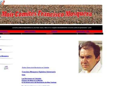 Organizacion Moir Comites Francisco Mosquera - Cosmos