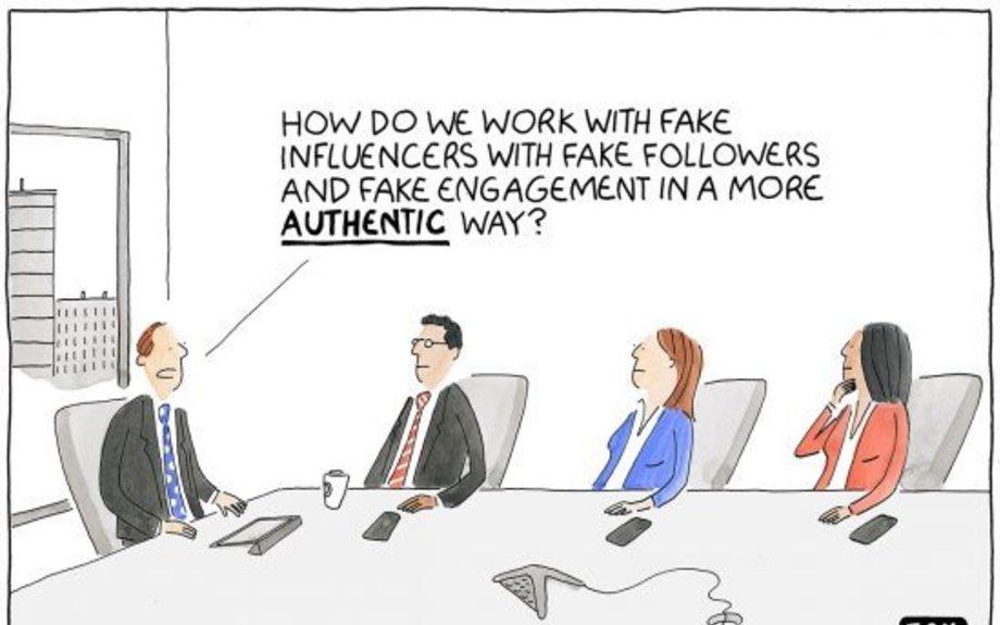 Fake Influence and Authenticity cartoon | Marketoonist | Tom Fishburne