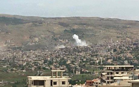 مصرع نازح حاول الفرار من مضايا وقصف مكثف على الزبداني وبقين وإحراق 50 منزلا بمحيطها