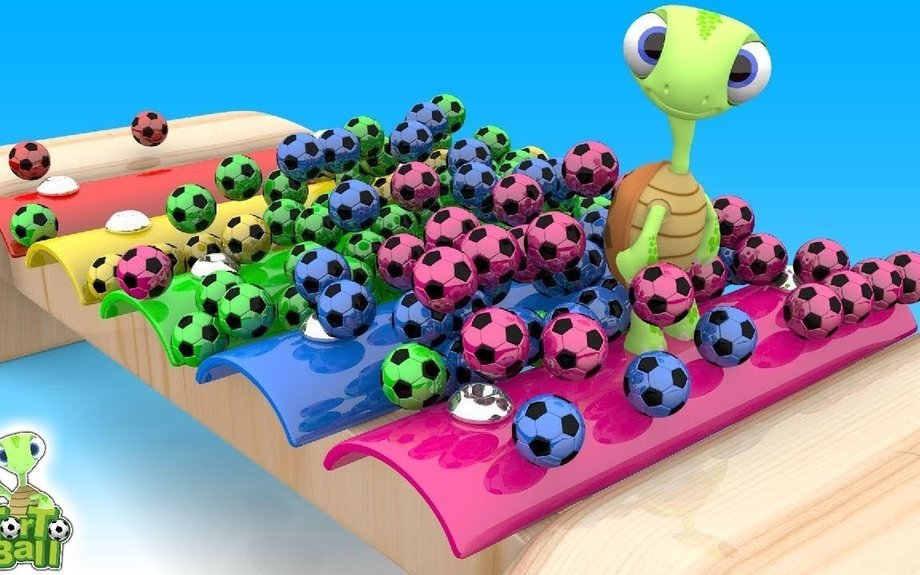 LEARN BALLS With Xylophone Soccer Ball Basketball For Children and Kids | Torto Ball