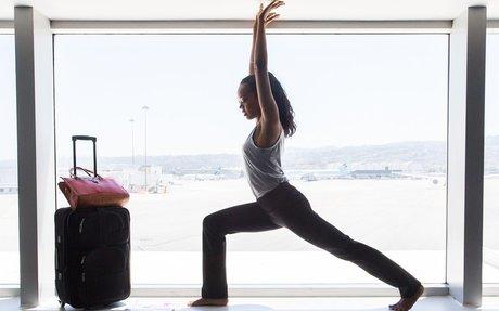Straight-Leg Travel Yoga Pants   Women's Black Yoga Pants For ...