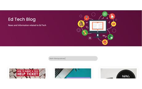 Michelle's Blog | Ed Tech Framework