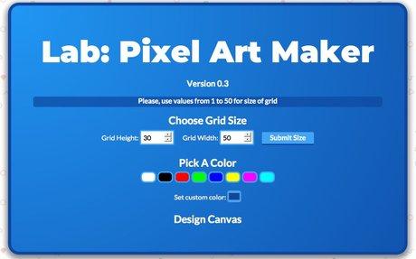 Project: Pixel Art Maker #FEWD v2