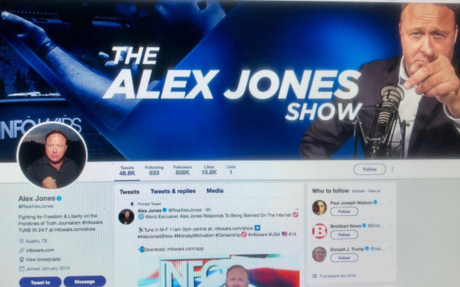 Now even YouPorn has banned Alex Jones, but he's still on Twitter