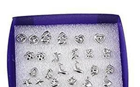 18 Pairs/lot Mixed Styles 925 Sterling Silver Studs Earring Platinum Jewelry - - Amazon.co