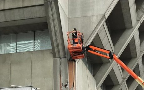 Manulife Centre's Concrete Making Way for Glassy Addition | Urban Toronto
