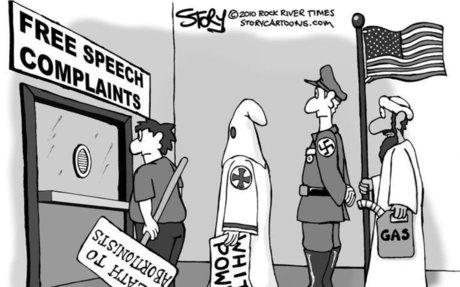 When does free speech become hate speech?