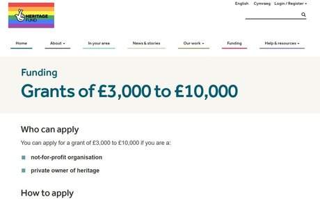 National Lottery Grants for Heritage| £3,000 to £10,000