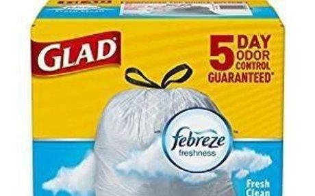 Amazon.com: Glad OdorShield Tall Kitchen Drawstring Trash Bags - Febreze Fresh Clean - 13