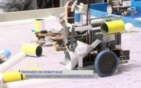 Trophée de robotique : Montigny-le-Bretonneux remporte le prix du développement durable