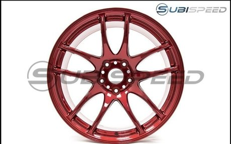 Work Emotion CR Kiwami 18x9.5 +38mm Candy Apple Red - 2015+ WRX / 2015+ STI