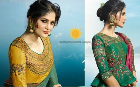 Top 10 latest blouse designs Catalogs For Saree Blouse - styleoflady