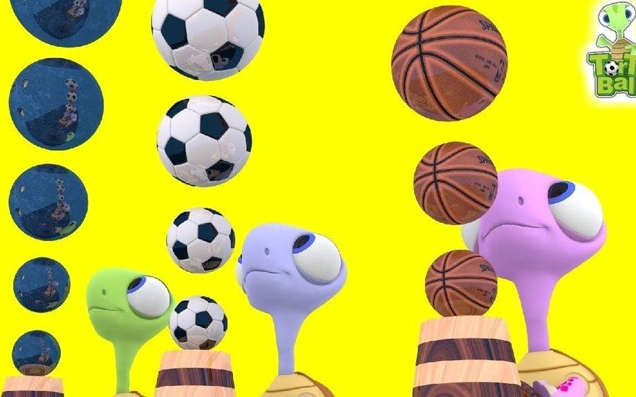 LEARN BALLS Turtle Make Ball Letters Firing Cannons For Children an Kids | Torto Ball