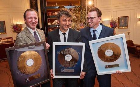 Einmal Platin, zweimal Gold für Jonas Kaufmann in Österreich
