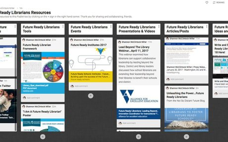 Follow and Add To The NEW Future Ready Librarians Collection, Padlet and Google Drive!