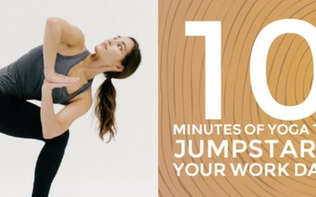 10 Minutes of Yoga to Jumpstart Your Work Day