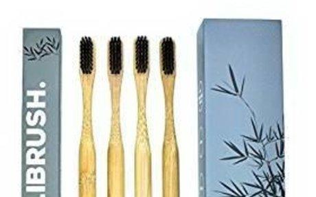 Bamboo Toothbrush with Charcoal Bristles - 'BALIBRUSH.' | Biodegradable | Soft - Medium Br
