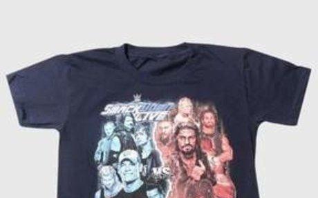 WWE Boys' Smackdown Vs Raw Short Sleeve T-Shirt - Navy