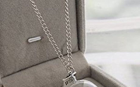 Amazon.com: Yesido. Wish Necklace Dandelion Seed Necklace Floating Charms Pendant Necklace