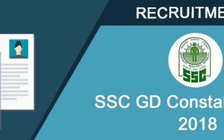 SSC GD Constable Recruitment Exam 2018