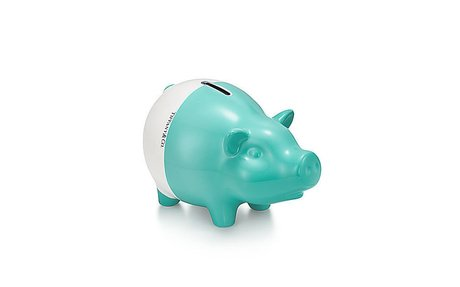It's tradition! I always give babies first Tiffany & Co. -  Color Block:Piggy Bank