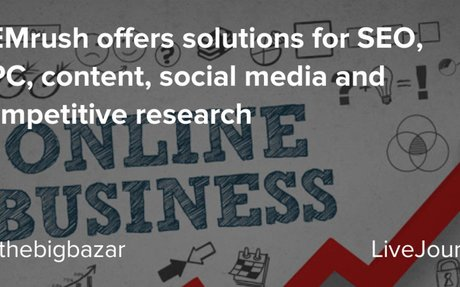 SEMrush offers solutions for SEO, PPC, content, social media and competitive research