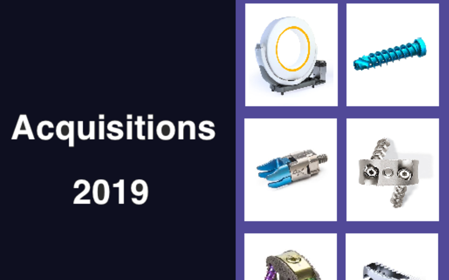 Which have been the most relevant acquisitions in 2019 in the Spine market? - SPINEMark...