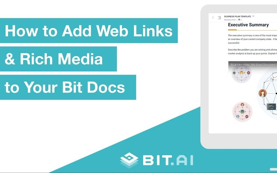 How to Add Web Links & Rich Media to Your Bit Docs | Bit.ai | Smartest Documents on the Planet