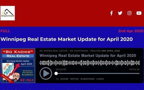 Winnipeg Real Estate Market Update for April 2020