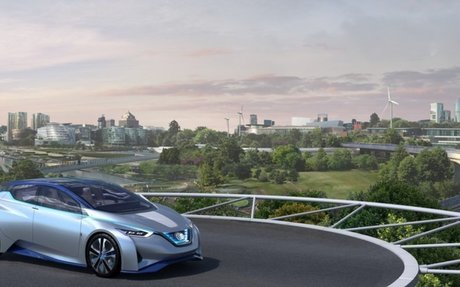 """Visionary """"future of mobility concept"""" unveiled by Nissan in Europe and Foster + Partners"""
