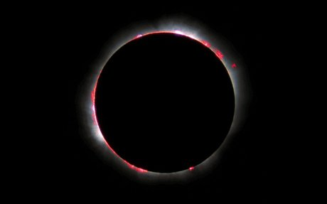 Earth's Ionosphere During Total Solar Eclipse
