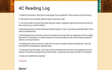 4C Reading Log