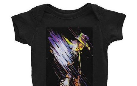 MJ Infant Bodysuit - Black, MJ Infant Onesies, Pregnant Women Gifts, Babies Best Gifts, Co