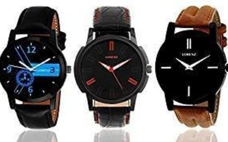 Buy Lorenz MK-140713A Combo of 3 Analog Watches - For Men Online at Low Prices in India -