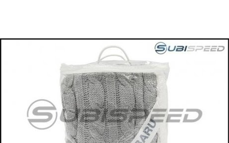 Subaru Cable Knit Chenille Throw Blanket