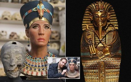 Is this the glamorous face of Queen Nefertiti?