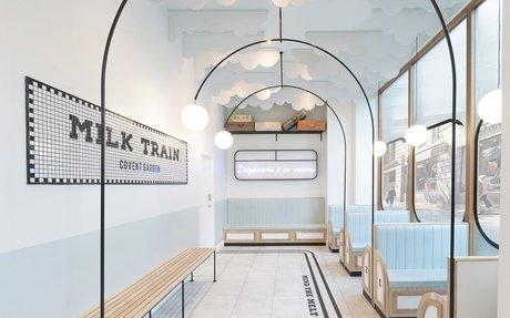 DESIGN // Milk Train's Instagrammable Ice Cream Shop
