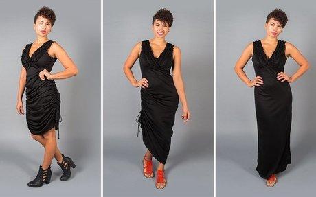 Climate-Change Travel Dress   Black Convertible Maxi Dress   B...