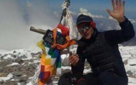 Andinista ecuatoriano rompe récord en el Aconcagua