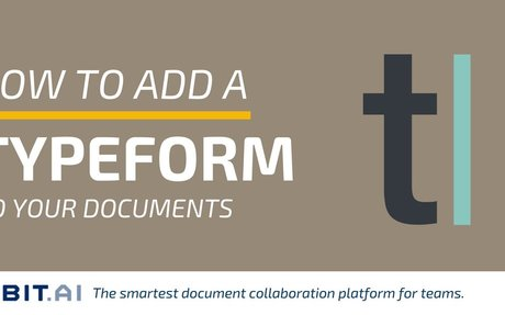 How to Add a Typeform to Your Documents - Bit Blog